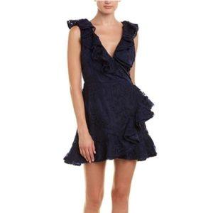 BB Dakota harlow lace dress in navy blue